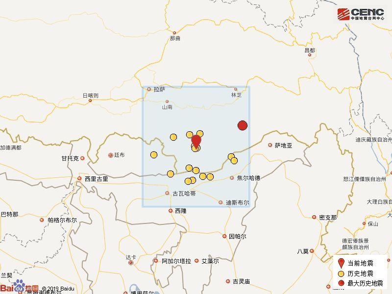 西藏山南4.8级地震对市错那县位置测定及影响最新消息(附《地震躲避和自救方法》)