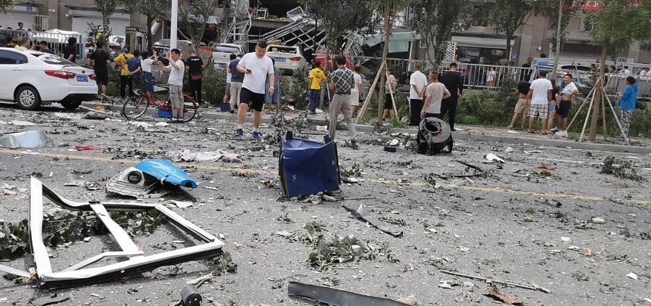 秦皇岛一商铺爆炸原因直击视频图片流出一排私家车躺枪!